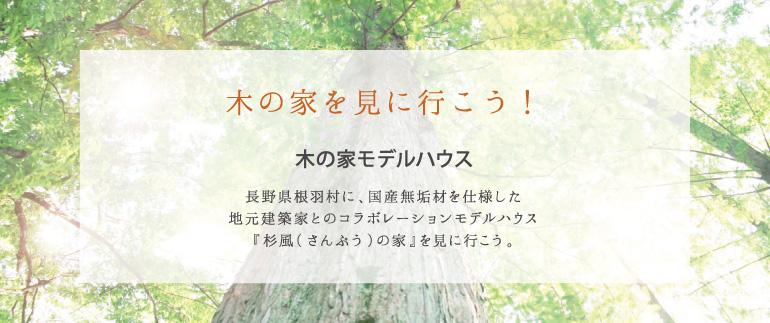 木の家モデルハウス 長野県根羽村に、国産無垢材を仕様した地元建築家とのコラボレーションモデルハウス『杉風の家』を見に行こう。
